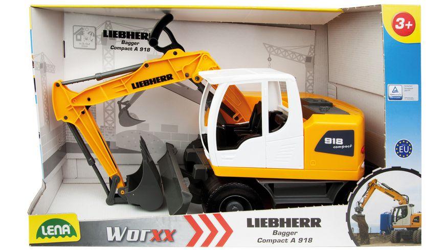 Lena Fahrzeuge Worxx Bagger Modell Liebherr A918 Litronic Schauk