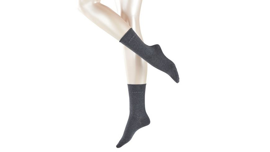 ESPRIT Damen Socken Basic Pure 2er Pack