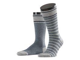 ESPRIT Herren Socken Melange Stripe 2er Pack
