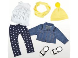 Mueller Toy Place Modern Girl Stars Outfit ohne Puppe