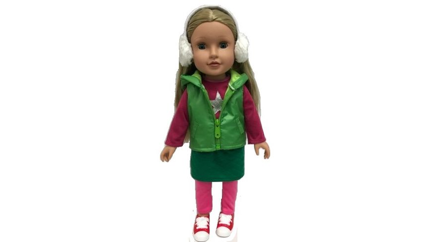 Mueller Toy Place Modern Girl Outfit Gruen Pink ohne Puppe