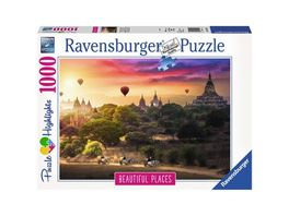 Ravensburger Puzzle Heissluftballons ueber Myanmar 1000 Teile