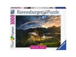 Ravensburger Puzzle Regenbogen ueber Machu Picchu Peru 1000 Teile
