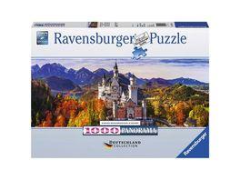 Ravensburger Puzzle Schloss Neuschwanstein in Bayern 1000 Teile