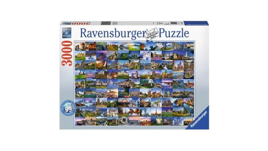 Ravensburger Puzzle 99 Beautiful Places in Europe 3000 Teile