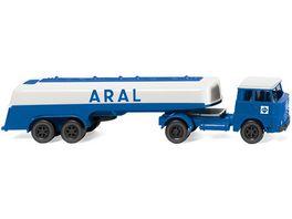 WIKING 080698 Tanksattelzug Henschel HS 14 16 Aral