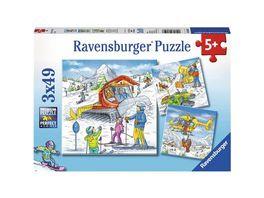 Ravensburger Spiel Im Skiurlaub 3x49 Teile