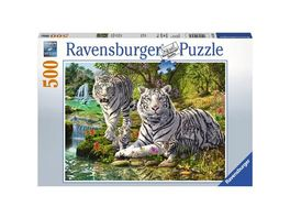 Ravensburger Puzzle Weisse Raubkatze 500 Teile