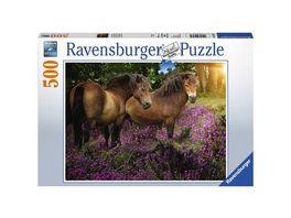 Ravensburger Puzzle Ponys in der Heide 500 Teile