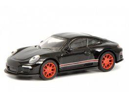 Schuco Edition 1 87 Porsche 911 R 991 schwarz rot