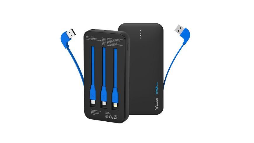Xlayer Zusatzakku Powerbank PLUS All-in-One PD 18W 10.000mAh
