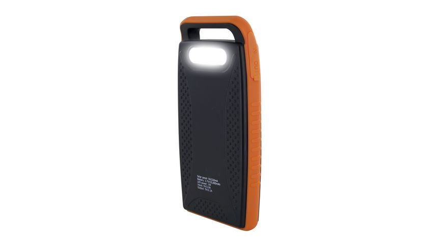 Xlayer Zusatzakku Powerbank PLUS Solar Black Blue 15 000mAh