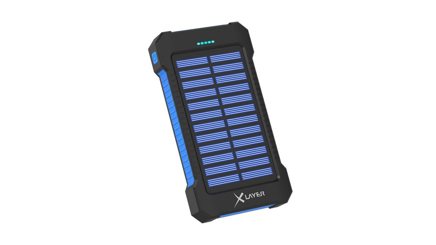 Zusatzakku Powerbank PLUS Solar Black Blue 8000mAh Smartphones Tablets