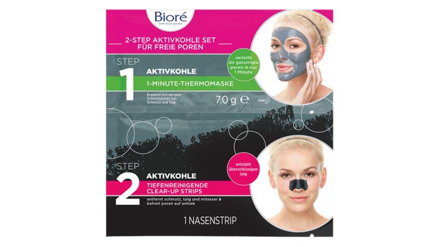 Biore 2 Step Aktivkohleset fuer freie Poren