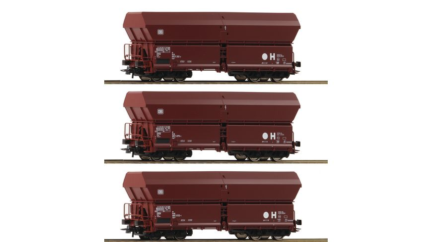 Roco 67082 3 tlg Set Selbstentladewagen DB