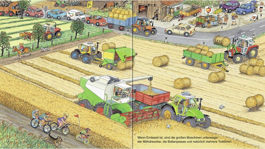 Bagger Traktor Muellabfuhr