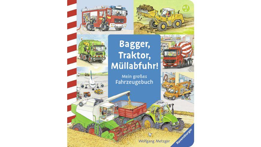 Ravensburger Buch - Bagger, Traktor, Müllabfuhr!