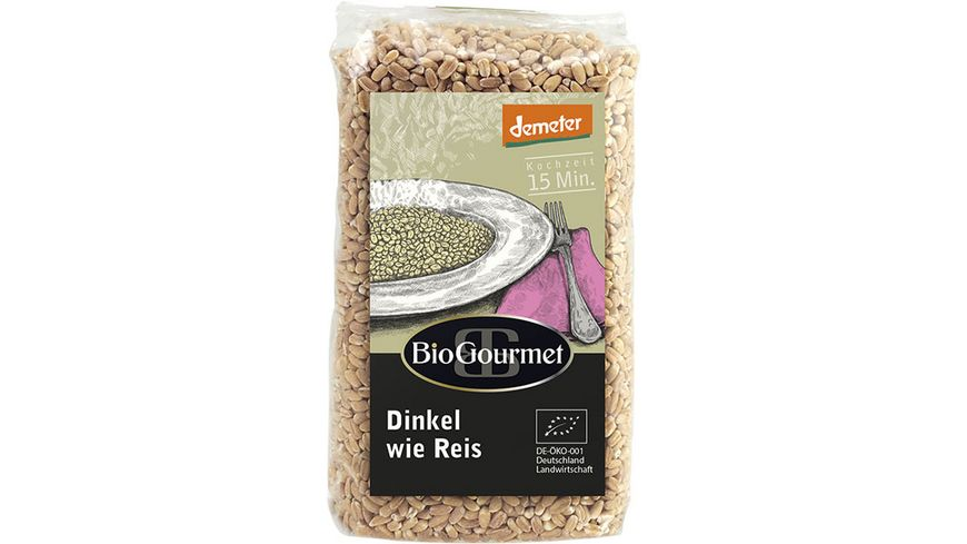 BioGourmet Dinkel wie Reis geschliffener demeter Dinkel