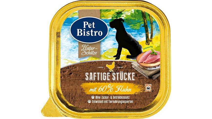 Pet Bistro Nassfutter fuer Hunde mit Huhn