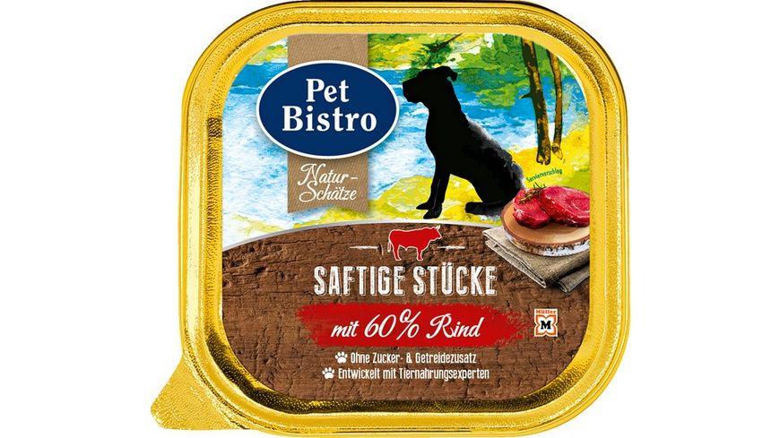Pet Bistro Nassfutter fuer Hunde mit Rind