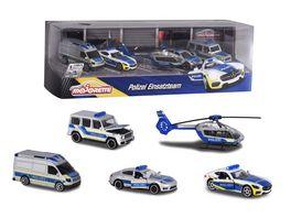 Majorette Street Cars Polizei Set 5 Stueck Geschenkpackung