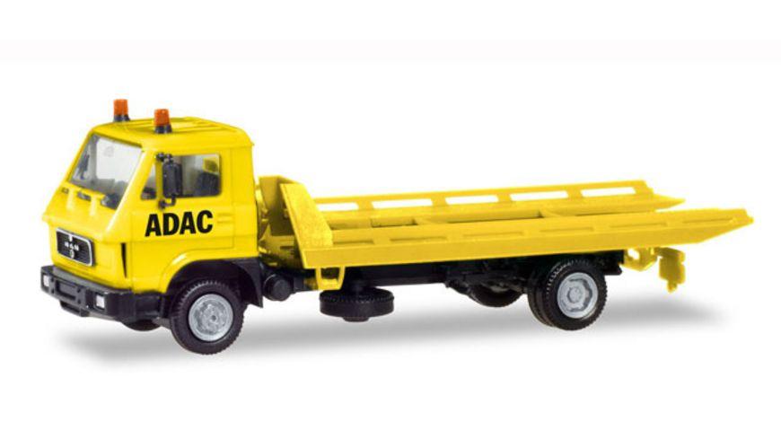 Herpa 094191 MAN G 90 Plateau Abschleppfahrzeug ADAC
