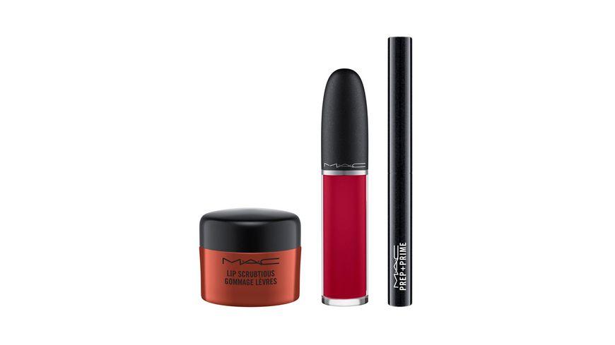MAC Shiny Pretty Things Sweet Scrub Set Red Velvet