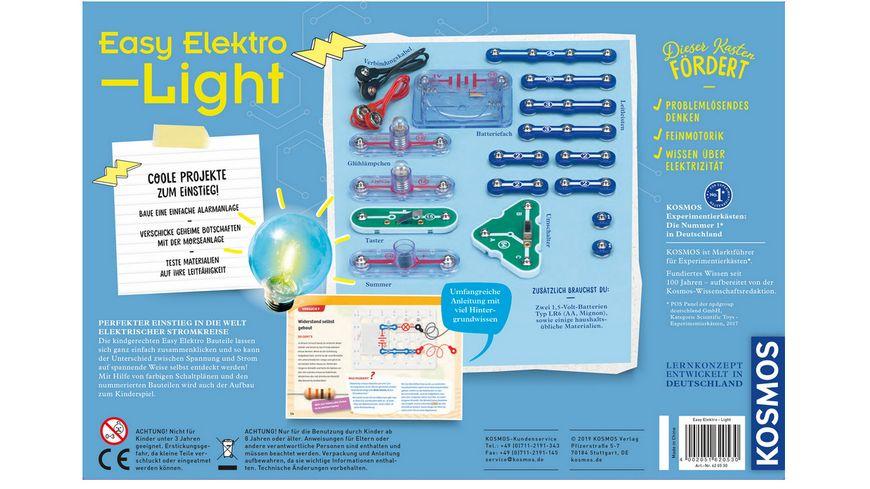 KOSMOS Experimentierkaesten Easy Elektro Light Erste elektrische Stromkreise