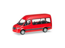 Herpa 93804 Mercedes Benz Sprinter Bus Hochdach rot