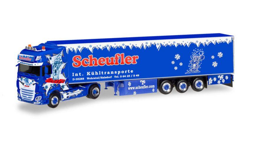 Herpa 308892 DAF XF SSC Euro 6 Kuehlkoffer Sattelzug Scheufler