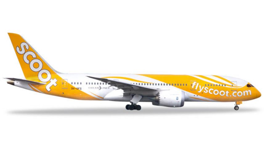 Herpa 531627 Wings Scoot Boeing 787 8 Dreamliner