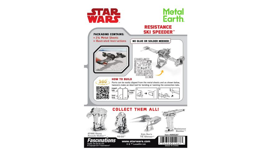 Metalearth Metal Earth STAR WARS EP 8 Resistance SKI Speeder