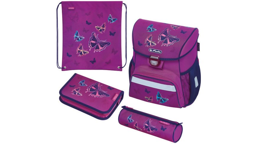herlitz Schulranzen Set Loop Plus Glitter Butterfly