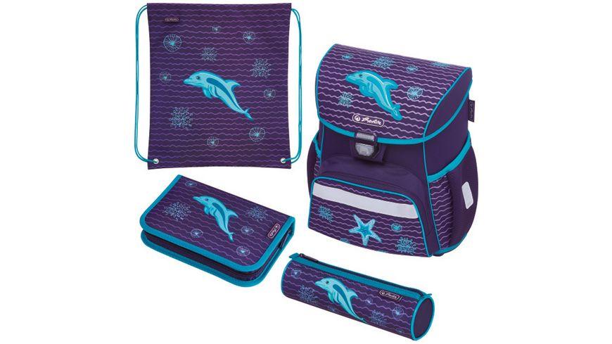 herlitz Schulranzen Set Loop Plus Glitter Dolphin