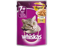 Whiskas Katzennassfutter 7 Ragout mit Gefluegel in Gelee