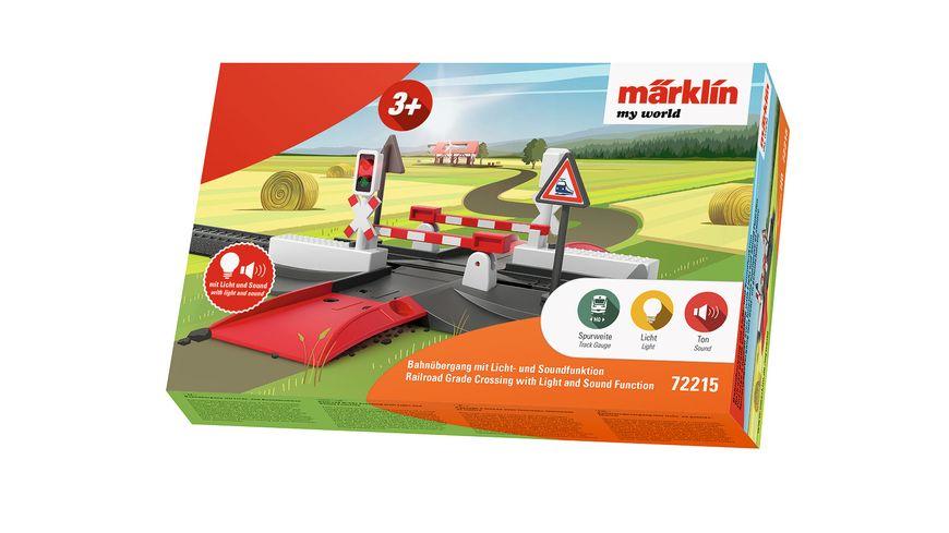 Maerklin 72215 my world Bahnuebergang mit Licht und Soundfunktion