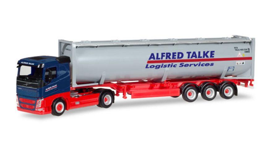 Herpa 309363 Volvo FH Flachdach Drucksilo Container Sattelzug Alfred Talke