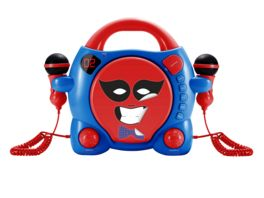 CD Player CD59 Boy mit 2 Mikrofonen red blue