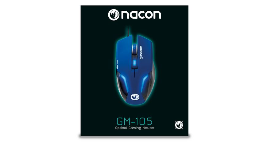 Optical Gaming Mouse GM 105 blue max 2400dpi