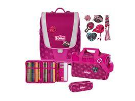 SCOUT Ultra Schulranzen Set 4teilig Pink Daisy