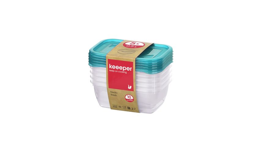 keeeper Frischhaltedosen Set Fredo Fresh 5-tlg. 0,5l