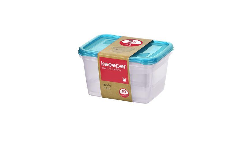 keeeper Frischhaltedosen Set Fredo Fresh 2-tlg. 2l
