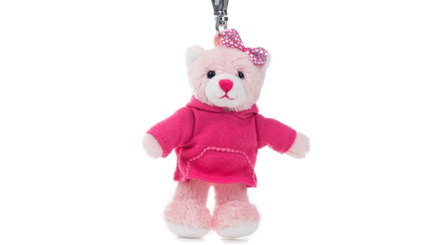 Rudolf Schaffer Collection Schluesselanhaenger Teddy Pink mit Kapuzen T Shirt