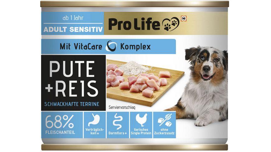 Pro Life Nassfutter für Hunde mit Pute und Reis.