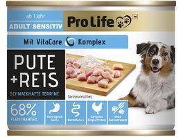 Pro Life Nassfutter fuer Hunde mit Pute und Reis