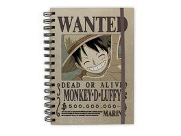 One Piece Wanted Luffy Notizbuch