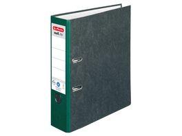 herlitz Ordner maX file Pappe A4 8cm gruen