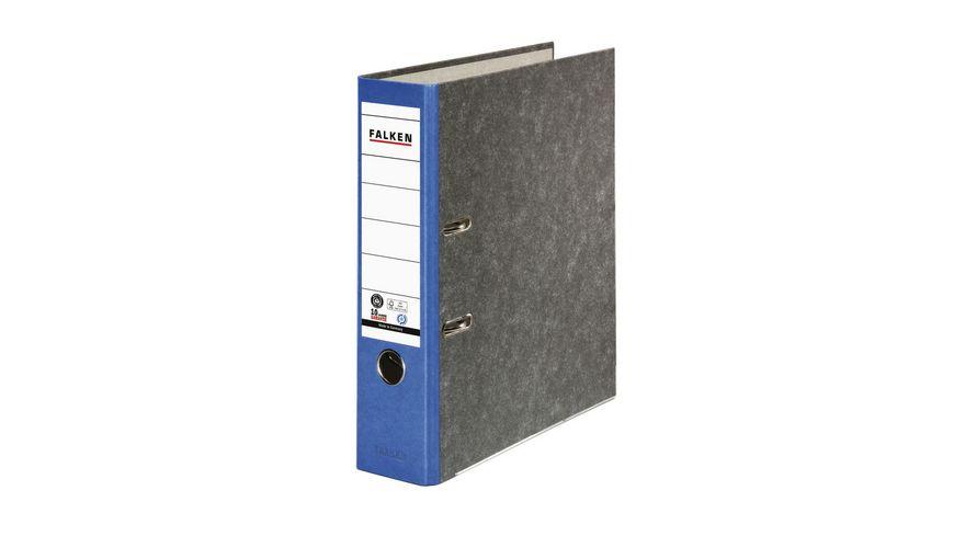herlitz Ordner maX file Pappe A4 8cm blau