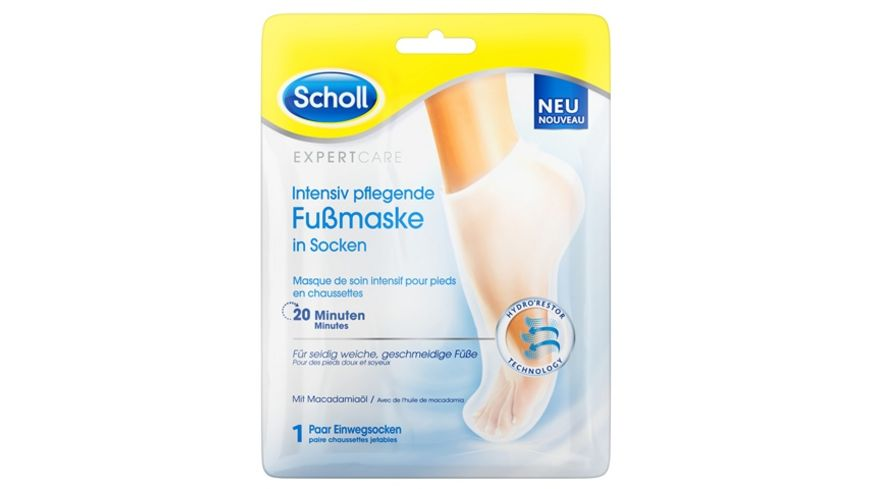 Scholl Expert Care Intensiv pflegende Fussmaske in Socken