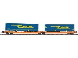 PIKO 54777 Taschenwagen T3000e Wascosa mit 2 Walter Trailern